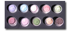 Eye Shadows 10 Color Mix and Match-mineral cosmetics,mineral makeup,foundation,blush,bronzer,eye shadow,pure colors,pure color,pure mineral,crush mineral,pure pigment,mineral eye shadow,mineral foundation,mineral blush,mineral bronze,bare mineral,bare minerals,id,id mineral,id minerals,nat
