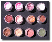 Eye Shadows 12 Color Mix and Match-mineral cosmetics,mineral makeup,mineral foundation,foundation,blush,mineral blush,bronzer,mineral bronzer,eye shadow,mineral eye shadow,pure mineral,pure pigment,pure colors,crush mineral,bare mineral,bare minerals,id,