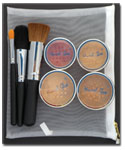 Foundation Bag Set-mineral cosmetics,mineral makeup,mineral foundation,foundation,natural make up,mineral blush, blush, bronzer, eye shadow,crush mineral,bare minerals,bare mineral,id minerals,id mineral,id